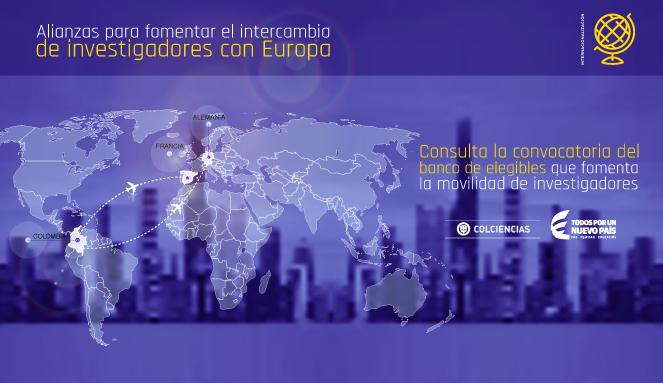 Convocatoria para conformar un banco de elegibles en el marco de proyectos entre Colombia y Europa
