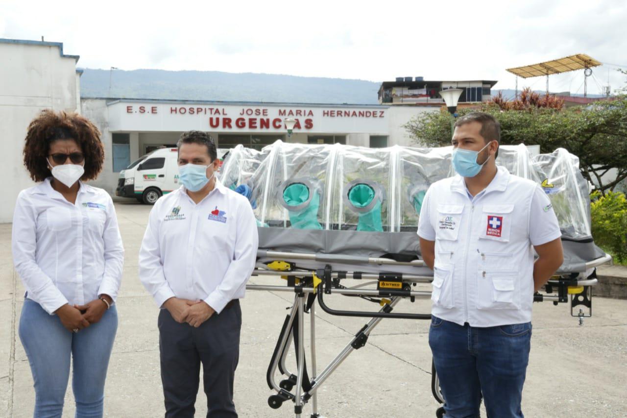 Minciencias entregó cabinas despresurizadas para el manejo de Covid - 19 en Putumayo