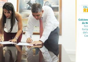 Yaneth Giha, Directora de Colciencias y Edgar Díaz, Gobernador de Norte de Santander firman acuerdo para poner en marcha plan estratégico de ciencia, tecnología e innovación.