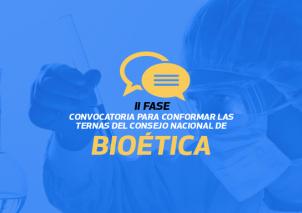 Segunda fase convocatoria Bioética.