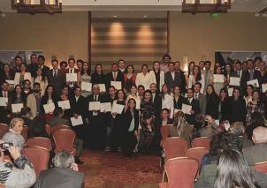 Ceremonia de entrega de becas para doctorados. Foto: Archivo Semana