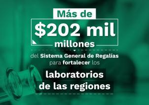 Minciencias gestionó más de $202 mil millones para fortalecer los laboratorios de biología molecular de las regiones