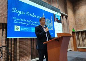 Viceministro de Conocimiento, Innovación y Productividad, Sergio Cristancho Marulanda.