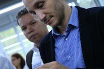 El Director General de Colciencias Alejandro Olaya, en compañía de Luis Fernando Gaviria, Rector de la Universidad Tecnológica de Pereira visitaron el Centro Innovación y Desarrollo Tecnológico - CIDT.