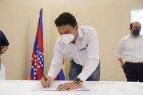 Nuestro ministro Tito Crissien puso en marcha dos proyectos que beneficiarán a 1.720 personas, generarán 54 empleos directos y 108, indirectos: