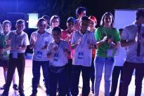 """94 niños y jóvenes investigadores provenientes de Caldas, Caquetá, Casanare, Putumayo, Santander, Risaralda, Tolima y Córdoba presentaron en Neiva sus proyectos de investigación, en el marco del segundo encuentro regional """"Yo amo la ciencia 2017""""."""
