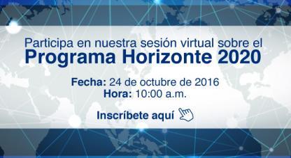 Participa en nuestra sesión virtual sobre H2020