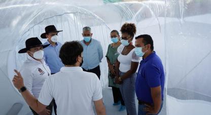 ●Dos Unidades de Aislamiento Epidemiológico Portátiles fueron entregadas por Minciencias al departamento del Casanare como apoyo al sistema de salud con el fin de expandir la capacidad hospitalaria en momentos de pandemia