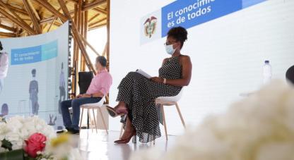 La ministra Mabel Torres lideró la rendición de cuentas de Minciencias Vigencia 2020.