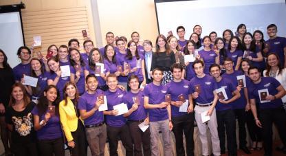 Directora de Colciencias despide a los 40 estudiantes de la U. Nacional que realizarán una pasantía en universidades de Estados Unidos