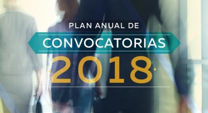 Consulta el plan anual de convocatorias 2018