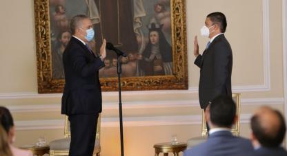 TITO JOSÉ CRISSIEN BORRERO se posesiona como Ministro de Ciencia, Tecnología e Innovación