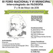 III Foro Nacional y VI Municipal  Inter-colegiado de Filosofía