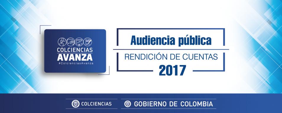 Rendición de cuentas 2017