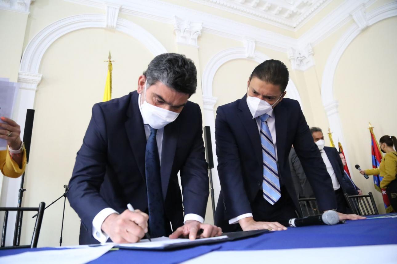 El ministro Tito Crissien radicó el proyecto de Ley que tiene como objetivo dar continuidad a Minciencias.